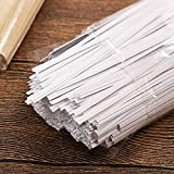 """CandyHome 1000 Pcs 6"""" Paper White Twist Ties"""