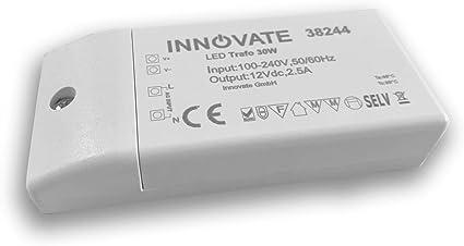 Innovate Led Trafo Eco 12 24 Volt Dc 0 30w Led Treiber Transformator Netzteil Driver 12 Volt 30 Watt Amazon De Kuche Haushalt