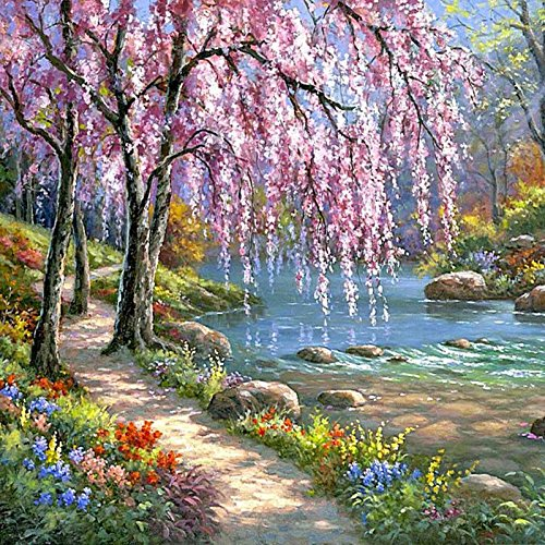 Fairylove 40 x 50 Painting by Number Kits DIY Oil Painting For Adults, Gurgling Flowing