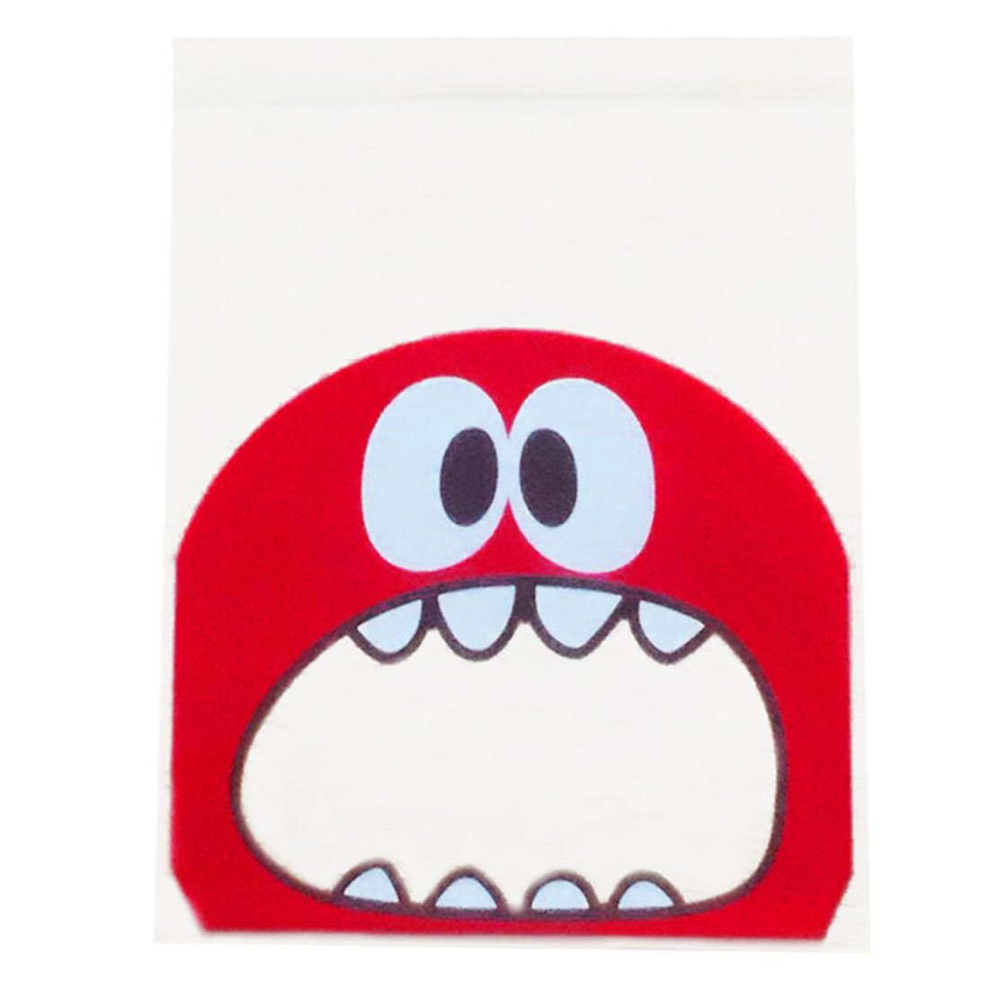 Biscuit Packaging Bag - TOOGOO(R)50pcs/lot small size cute little monster Candy cookie Bags Self-adhesive Plastic Biscuit Packaging Bag 1010cm plus 3cm(red)