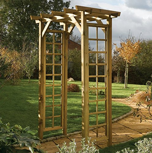 Wooden Garden Arch Outdoor Pergola Arbour Roof Rose Plants Climbing Large Patio Tall Arbor Trellis Canopy