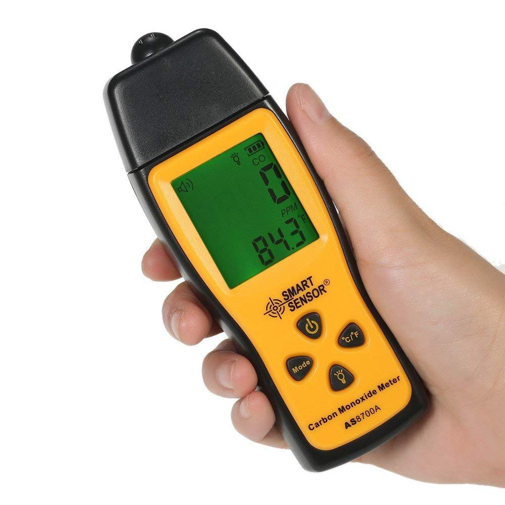 GXG 1987 Handheld Carbon Monoxide Meter with High Precision CO Gas Tester Monitor Detector Gauge LCD Display Sound and Light Alarm 0 1000ppm