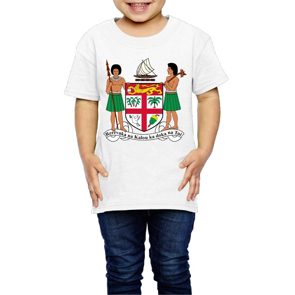 Tghhujffcbjj Girls Coat Of Arms Of Fiji T-Shirt Perfect Gift To Kids Or Parents White 3 Toddler