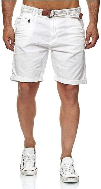 Indicode Conor - Pantalones cortos chinos para hombre, con ...
