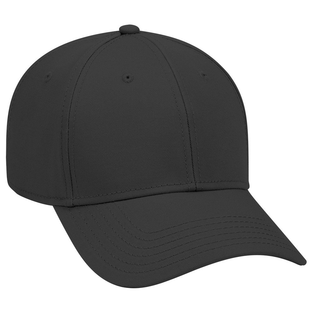 1d43689a OTTO 6 Panel Low Profile Superior Cotton Twill Cap - Black at Amazon Men's  Clothing store:
