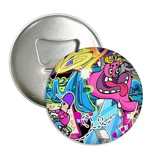 Graffiti calle cultura Colorful Monster redondo abridor de ...
