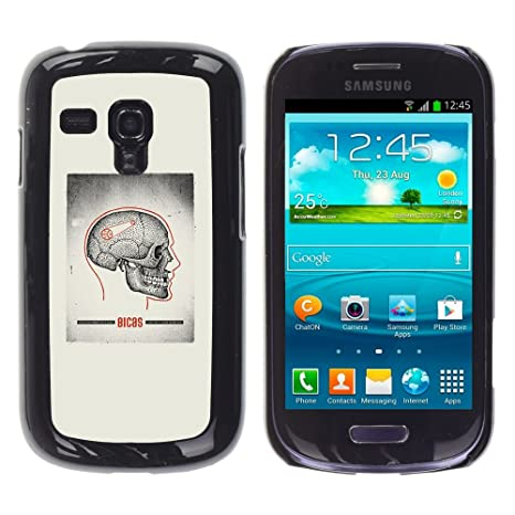 For Samsung Galaxy S3 MINI ( NOT for regular S3 Case , Schädel-Grau ...