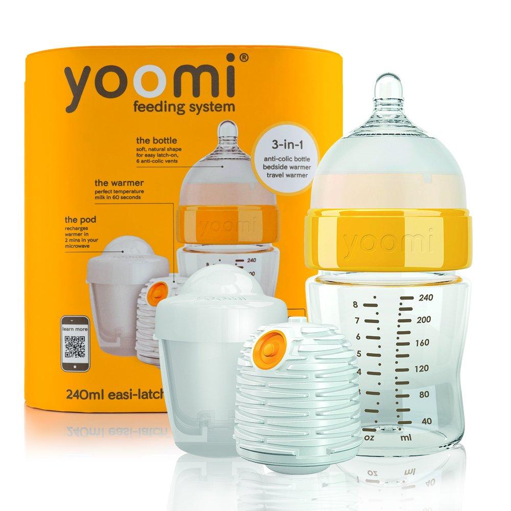 Yoomi 8 oz Feeding Bottle Warmer Slow Flow Teat Pod   B008PDI362