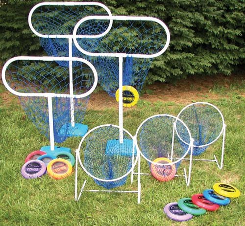 Olympia Sports High/Low Disc Golf Target Sets (Includes 3 Low Targets, 3 High Targets and 12 Discs)