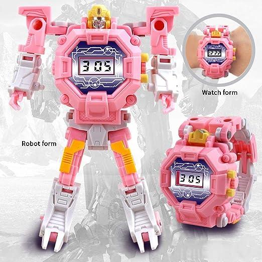 KOBWA Transform Toys Robot Watch, 2 en 1 Reloj Digital ...