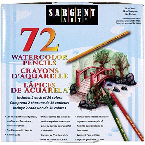 Sargent Watercolor Pencils 72 ct