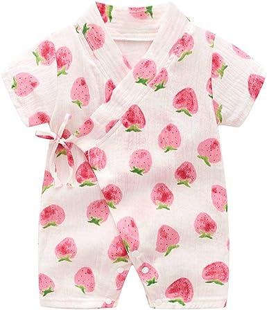 Kimono Robe Bebé Recién Nacido Mameluco Infantil Pijamas Ropa De Verano