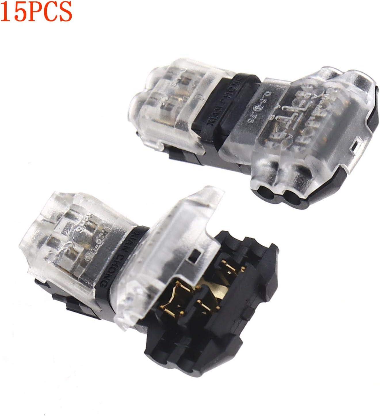 Estilo T 2 15 Conectores de 2 Pines para conexi/ón de Cable el/éctrico