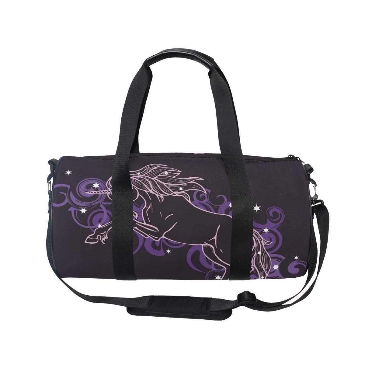 Gym Duffel Bag Unicorn Star Cloud Sports Lightweight Canvas Travel Luggage Bag by KMAND (Image #2)