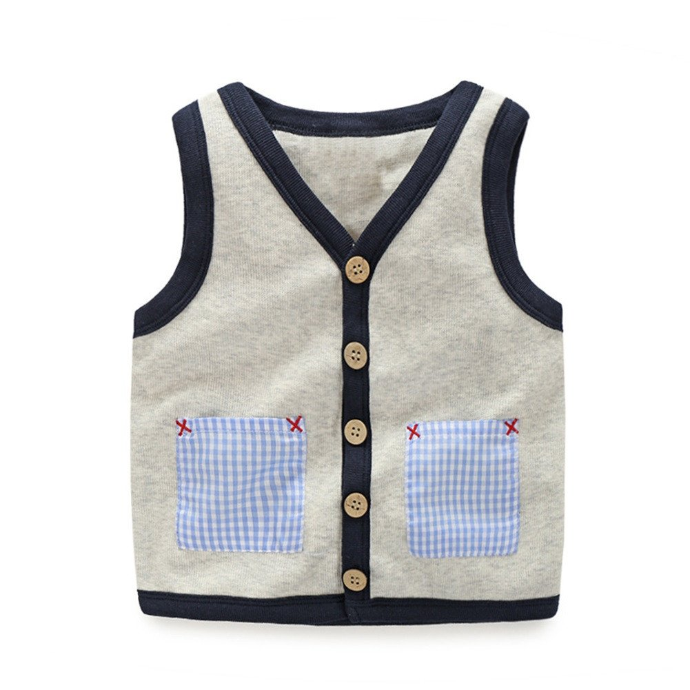 Mud Kingdom Little Boys Vests Outerwear Cute Animal Bus SS0231