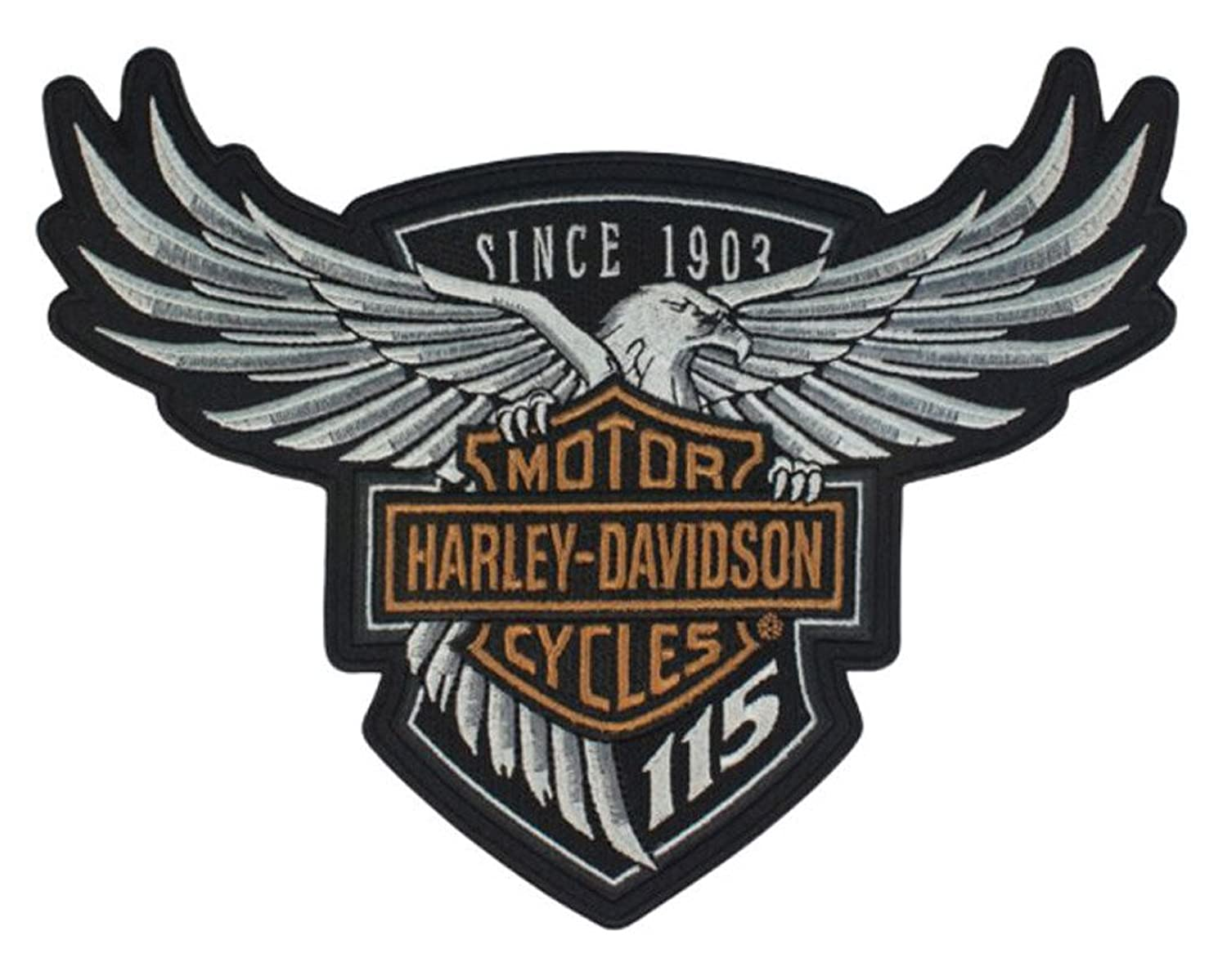 amazon com harley davidson 115th anniversary eagle emblem patch rh amazon com harley davidson eagle logo clip art harley davidson eagle logo wallpaper