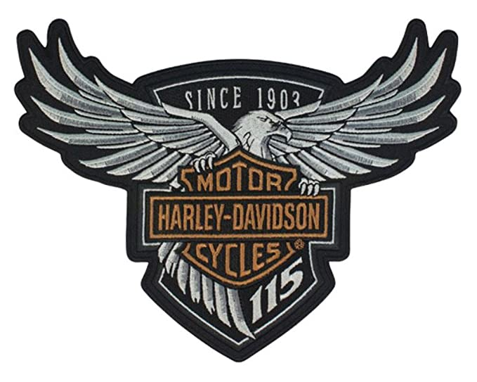 amazon com harley davidson 115th anniversary eagle emblem patch rh amazon com harley davidson logo vector harley-davidson login