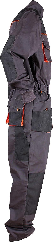 Tuta da Lavoro con molteplici Tasche Stenso Emerton/® Uomo Grigio//Nero//Arancione