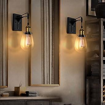 jiayoujia eclairage 1 applique lampe de mur murale intrieur en verre avec plaque arrire noire pour