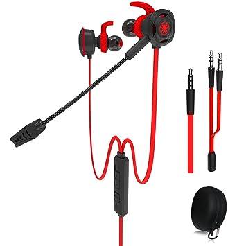 Auriculares para juegos con cable y micrófono ajustable para PS4, Xbox, computadora portátil, auriculares E-sports DLAND con bolsas portátiles, diseño ...