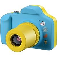 Samoleus Macchina Fotografica per Bambini, Mini Fotocamera Digitale Portatile, Digital Camera Kids Videocamera HD 1080P / 5MP / LCD da 1.5 Pollici / con Scheda SD da 8 GB (Blu)
