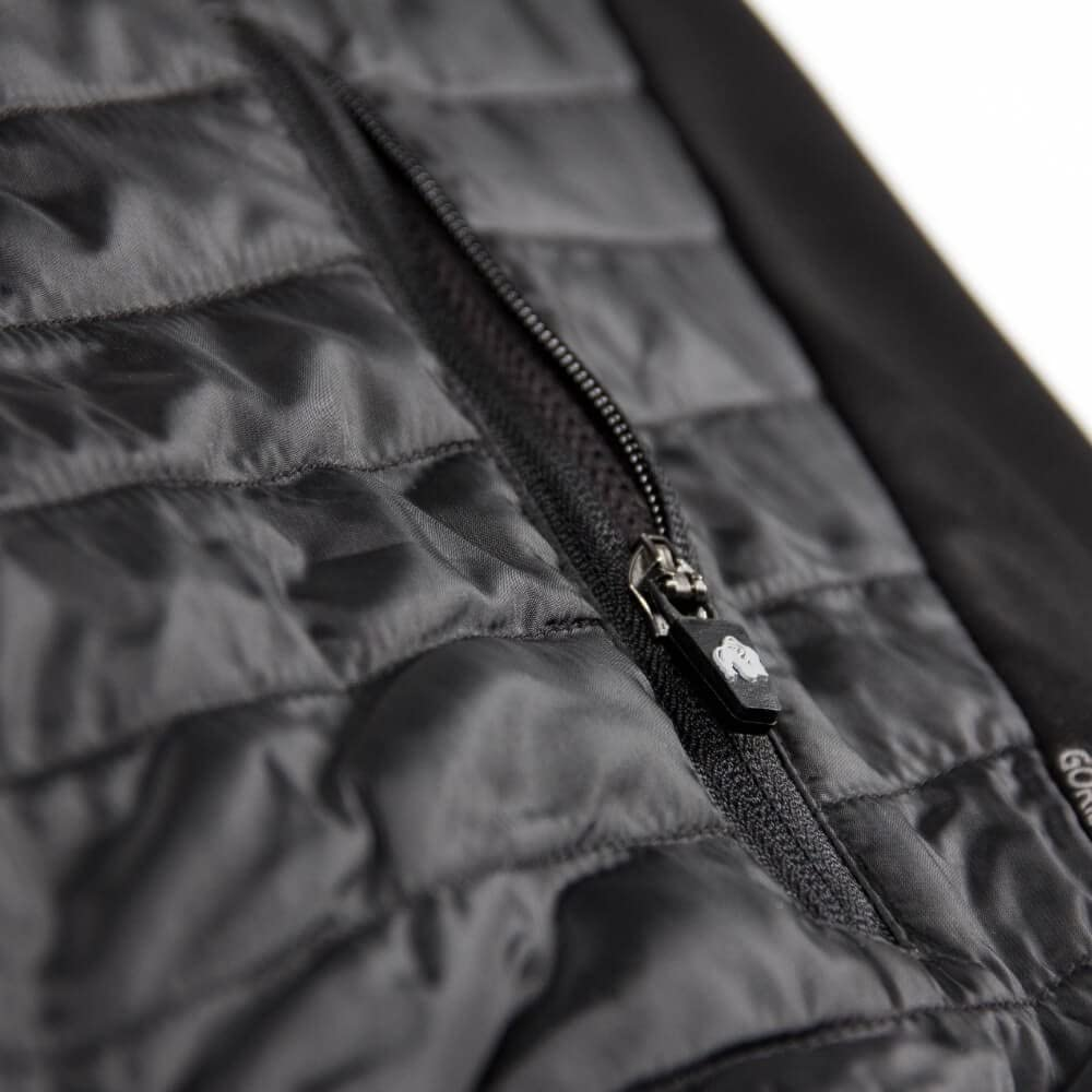 Details about  /Gorilla Wear Jefferson Front Padded Jacket–Black//Gray Bodybuilding Fitness