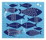 Linden Sweden Swish and Go Fish Cloth, Blue