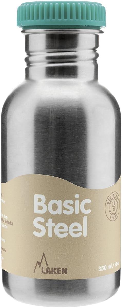 Laken BS50R Botella de Acero Inoxidable conTapón, 500 ml, Verde