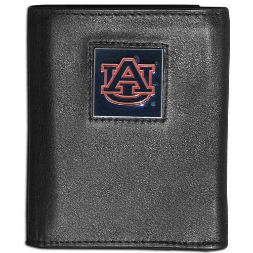 NCAA Auburn Tigers Leather Tri-Fold Wallet (Tigers Auburn Leather)