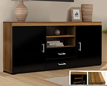 Wood Tv Stand Sideboard Tv Unit Cabinet With Drawers Amazon Co Uk
