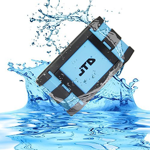 Waterproof-Speaker-JTD--Armor-Portable-Bluetooth-Speaker-Blue-5W-Strong-DrivePassive-Radiator-for-Rich-Immersive-Sound-Waterproof-Shockproof-and-Dustproof-OutdoorShowerMP3PC-Speakers-with-Emergency-Po