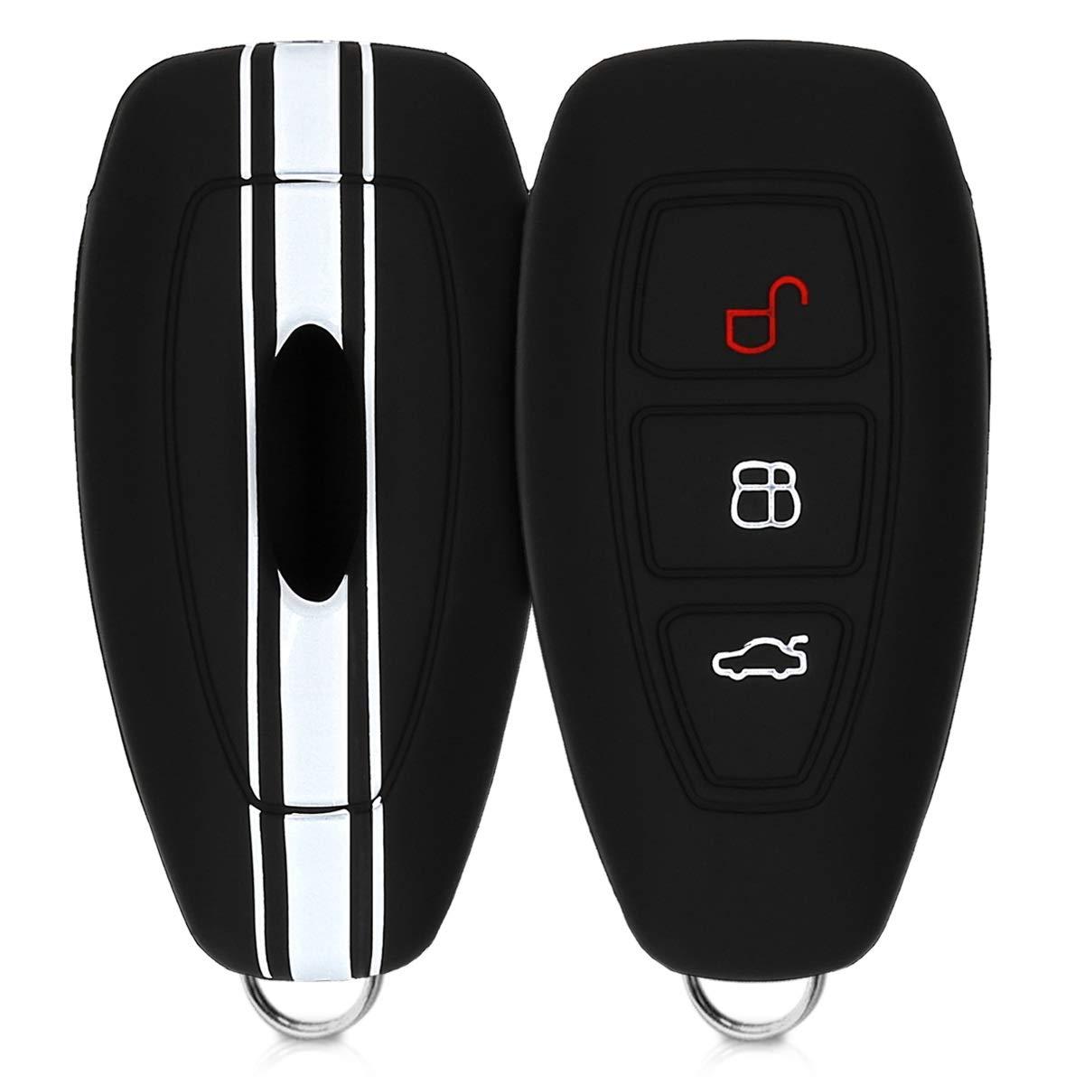 kwmobile Cover chiave auto per Ford - protezione in silicone - Guscio protettivo coprichiave - Custodia per chiave Ford con 3 tasti Keyless Go KW-Commerce 41621.02_m000690