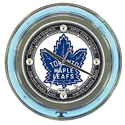 NHL Toronto Maple Leafs Chrome Double Ring Neon Clock, 14