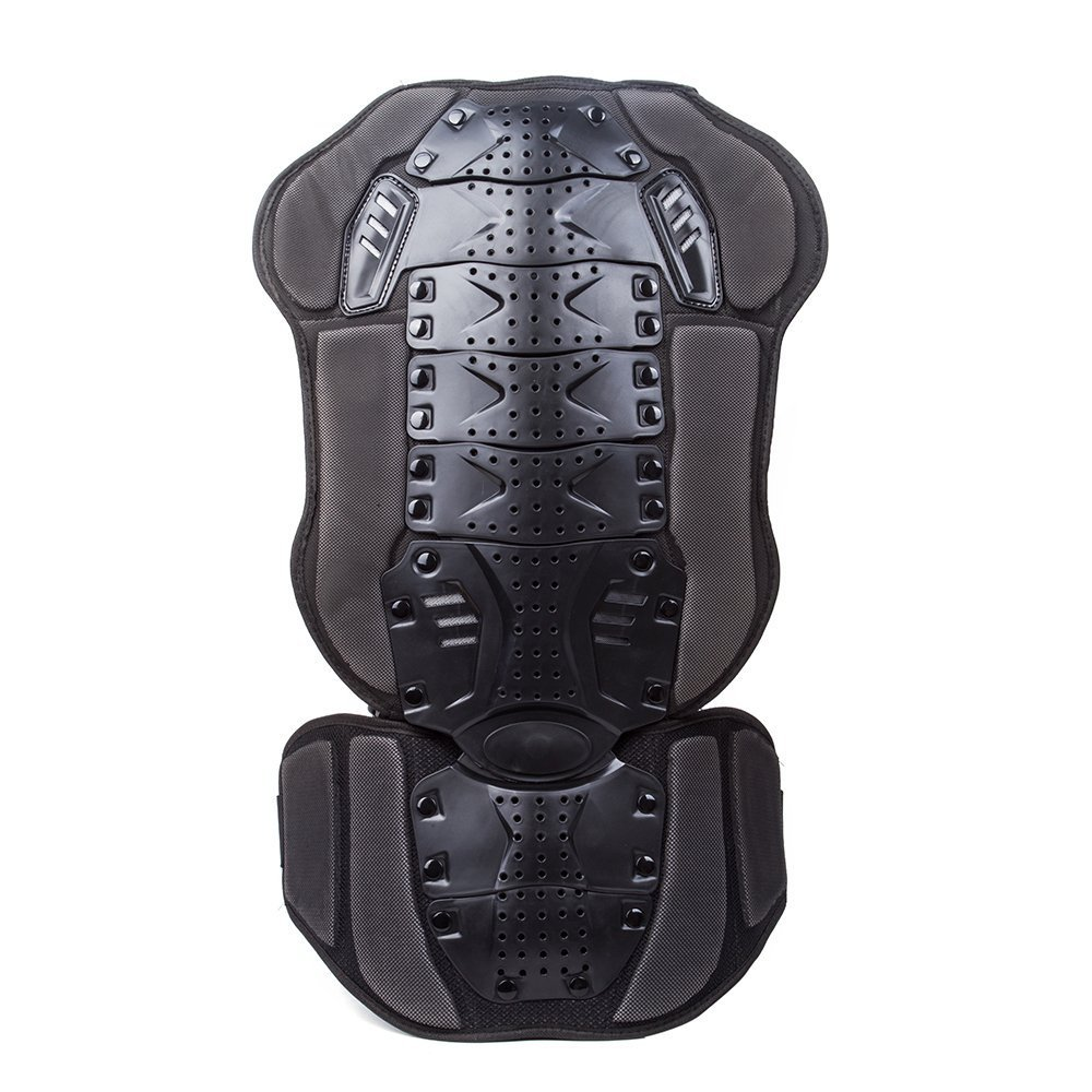 Motocross/Motorcycle Spine Armour Protection Body Guard  Racing Skiing/Snowboarding Skating Back Protector (Black-3) Suntime NFS-416