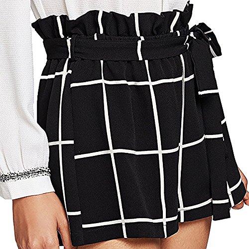 Coulisse Pantaloncini 2019 Sumtter Ragazza Casuale Nero Eleganti Sciolto Pantaloni Corti Donna Con Estivi 0xagqFx