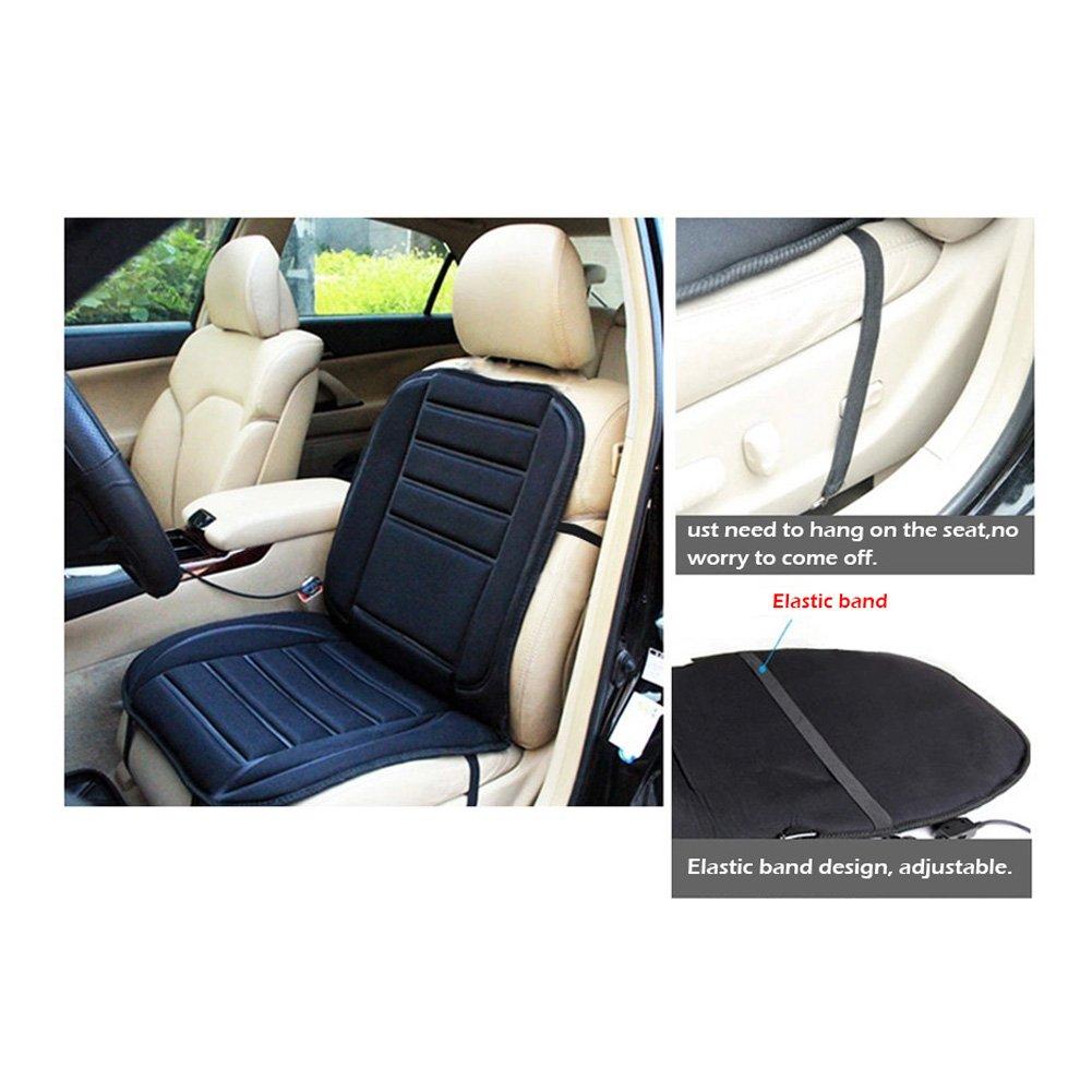 WinnerEco Car Heated Seat Cushion Cover Auto 12V Heating Heater Warmer Pad