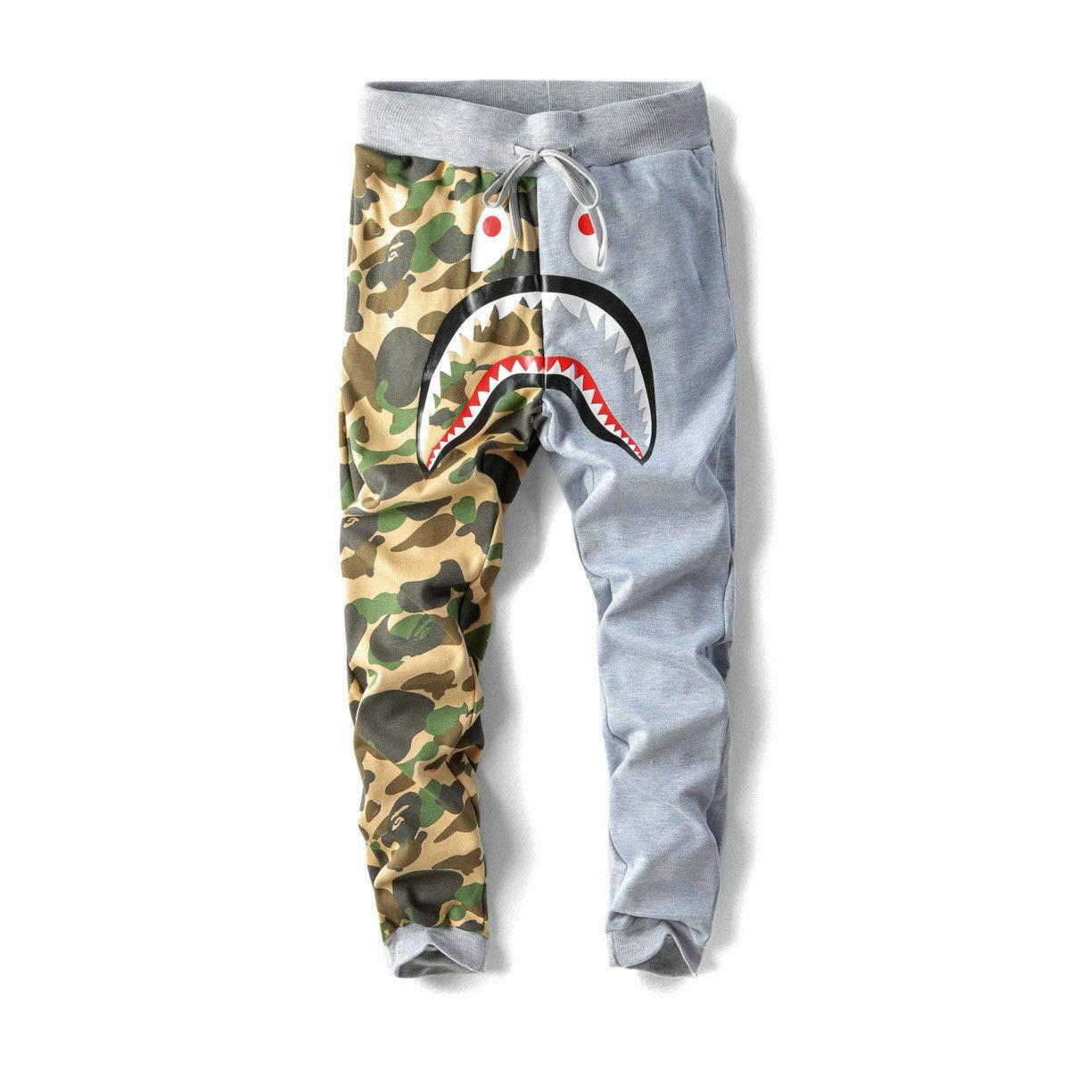 BAPE Shark Head Camouflage Sweatpants and Men/'s Bathing Ape Pants Casual Pants
