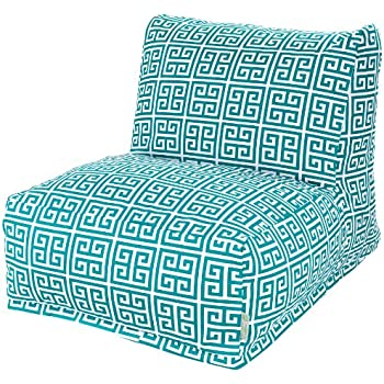 Majestic Home Goods Pacific Towers Bean Bag Chair Lounger Turquoise