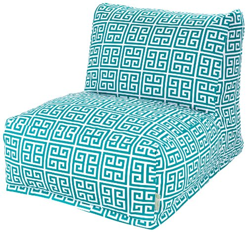 Majestic Home Goods Pacific Towers Bean Bag Chair Lounger, Turquoise by Majestic Home Goods