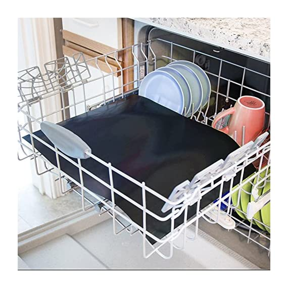 """CHERAINTI Grill Mat Oven Liner 70""""x16"""" Non-Stick Reusable Barbecue BBQ Mat, Cut to Any Size, for Gas Grill, Charcoal, Electric Grill, Electric Oven, FDA Approved, Heat Resistant 7 SMOOTH 100% NON-STICK, EASY TO CLEAN: Thanks to the non-stick teflon material. You can simply rinse with warm water to rid all leftover foods, spills or dried on liquids. You can wipe over with a damp cloth and lay flat on the top rack of your dishwasher for easy cleaning. You will be happy to know that your grill mat 