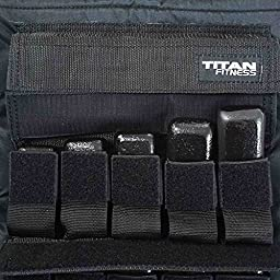 Titan Fitness Adjustable Weighted Vest 60LBS Resistance Weight Training Football