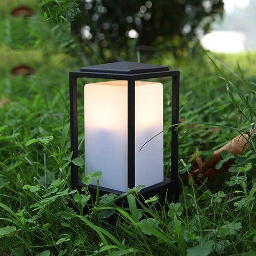 Lámpara led para jardín, lámpara LED impermeable para el césped, lámpara decorativa para césped Lámpara cúbica, cuerpo de la lámpara de aluminio Lámpara acrílica con forma de burbuja para césped: Amazon.es: Hogar