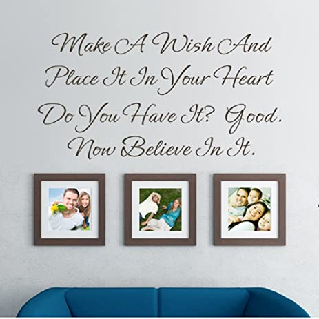 GECKOO Home Decor Make A Wish Wall Quote One Tree Hill Vinyl Inspirational Wall Saying(  sc 1 st  Amazon.com & Amazon.com: GECKOO Home Decor Make A Wish Wall Quote One Tree Hill ...