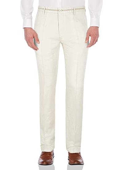 Next size 10l dark blue and white linen blend chinos casual trousers