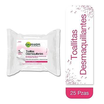 Garnier Skinactive - Toallitas Desmaquillantes Suaves, 25 Toallitas