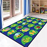 USTIDE Playtime 5'x7' Alphabet Animal Kids Children Play Rug Kids Themed Area Rug