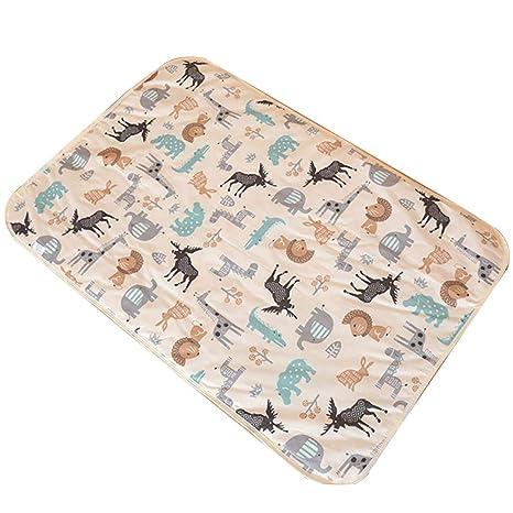 Naisicatar lavable colchón impermeable Protector de hojas Cama Underpad suave y absorbente de orina de ratón ...