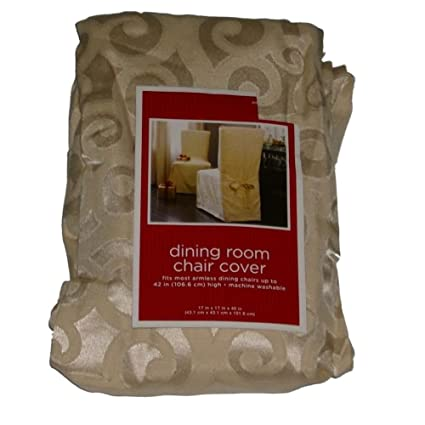 Amazon.com: Target Ivory Subtle Scroll Dining Room Chair ...