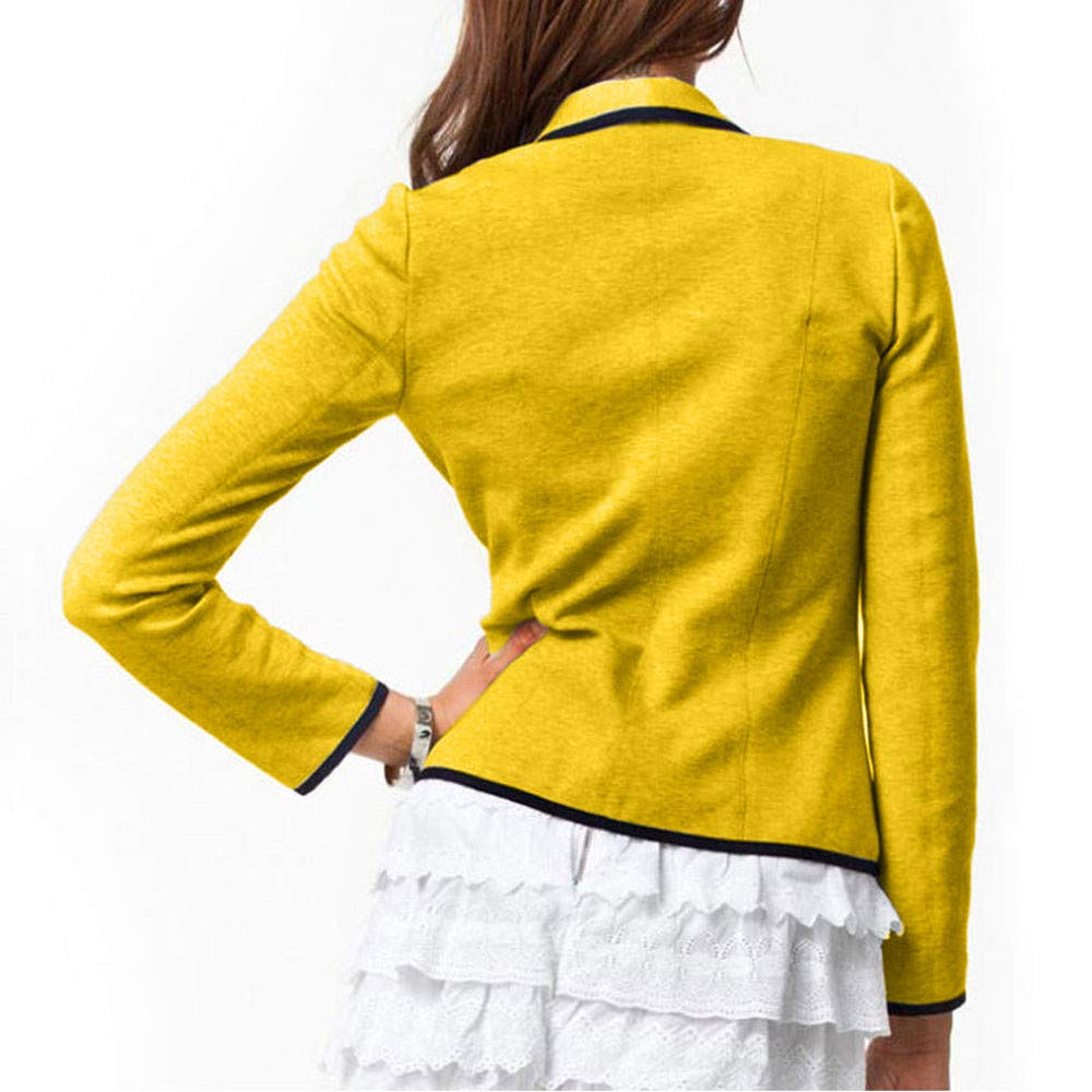 MEIbax Manteau Femme Blazer Costume Tops Manches Longues Veste Slim Outwear Veste Cuir Femme Asym/étrique Tailleur Biker Blazer