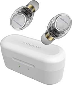 True Wireless Earbuds, Jabees Firefly Pro Sweatproof IPX5 Sport Earphones w/Intelligent Power Switch System,18 Hours Music,Qi-Enabled Wireless Charging,Transparency Mode Compatible w/iPhone 11